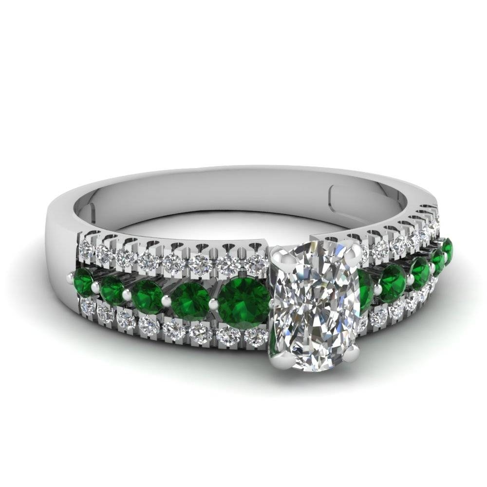 Find Our Emerald Engagement Rings | Fascinating Diamonds With Regard To Princess Cut Emerald Engagement Rings (Gallery 15 of 15)