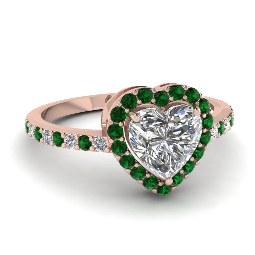 Find Our Emerald Engagement Rings | Fascinating Diamonds Within Emerald Wedding Rings For Women (View 7 of 15)