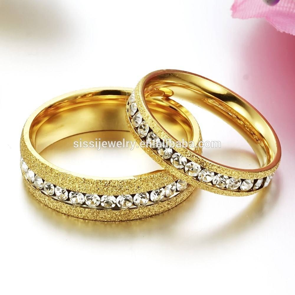 Fine Jewelry Stainless Steel Diamond Latest Gold Finger Ring Inside Engagement Gold Rings For Couples (View 4 of 15)