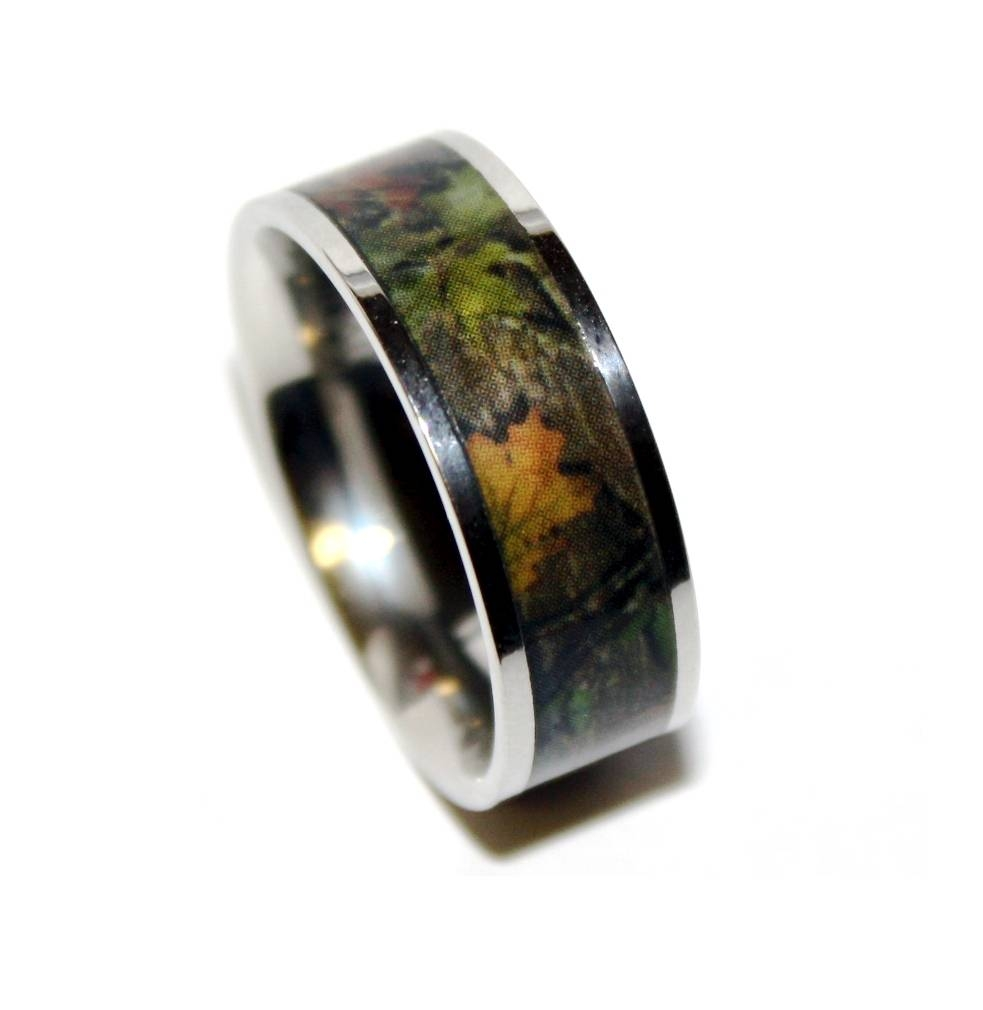 Finest Mm Wide Men S Tree Camo Tungsten Ring Camouflage Wedding For Camouflage Wedding Bands For Him (View 9 of 15)