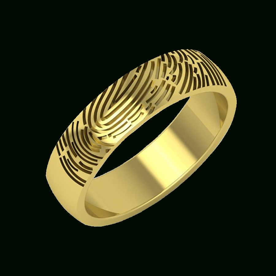 Fingerprint Rings For Father  Aurobliss In Wedding Rings With Fingerprint (View 9 of 15)