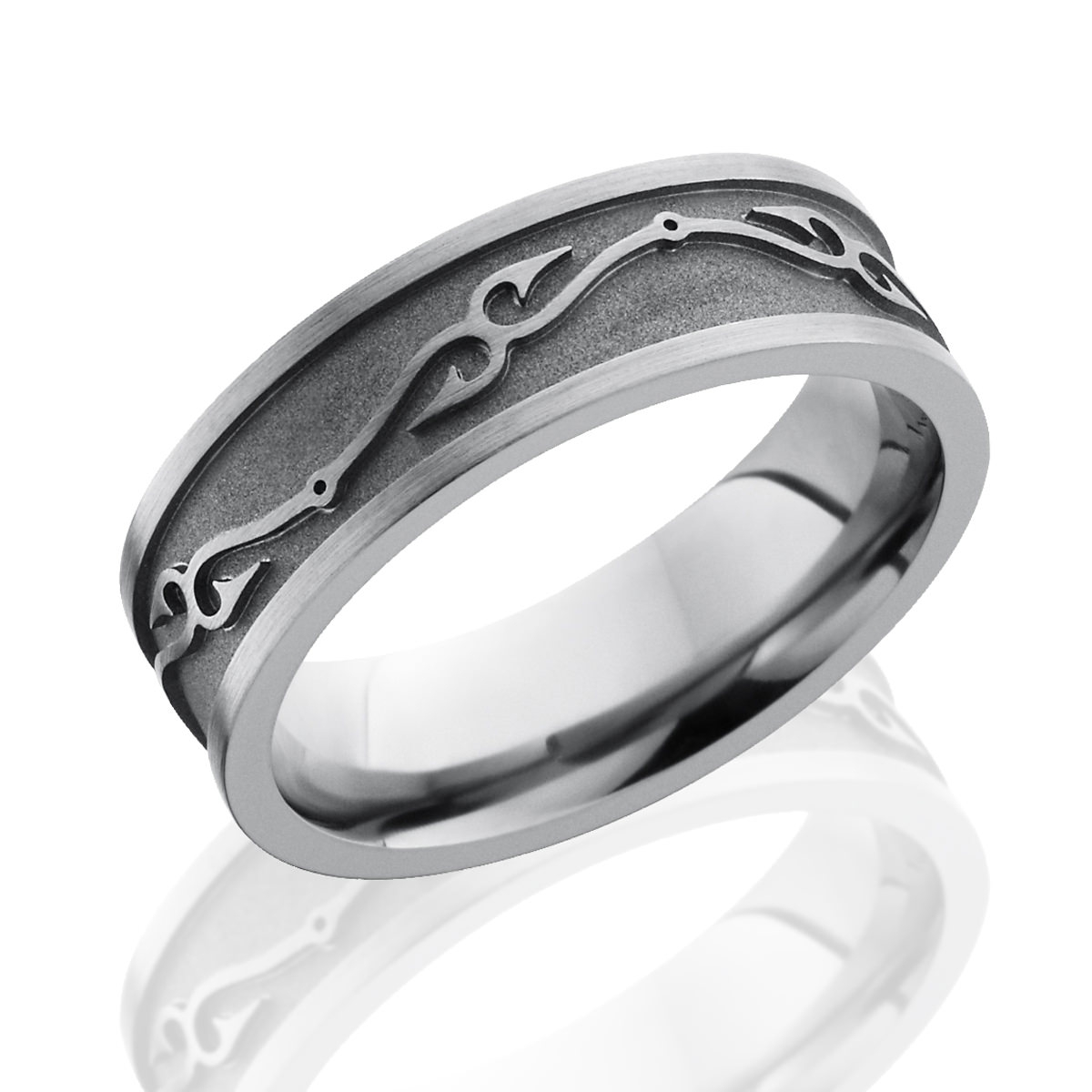Fish Hook Titanium Wedding Band – Fishing Ring For Your Guy Within Fish Hook Wedding Rings (View 5 of 15)