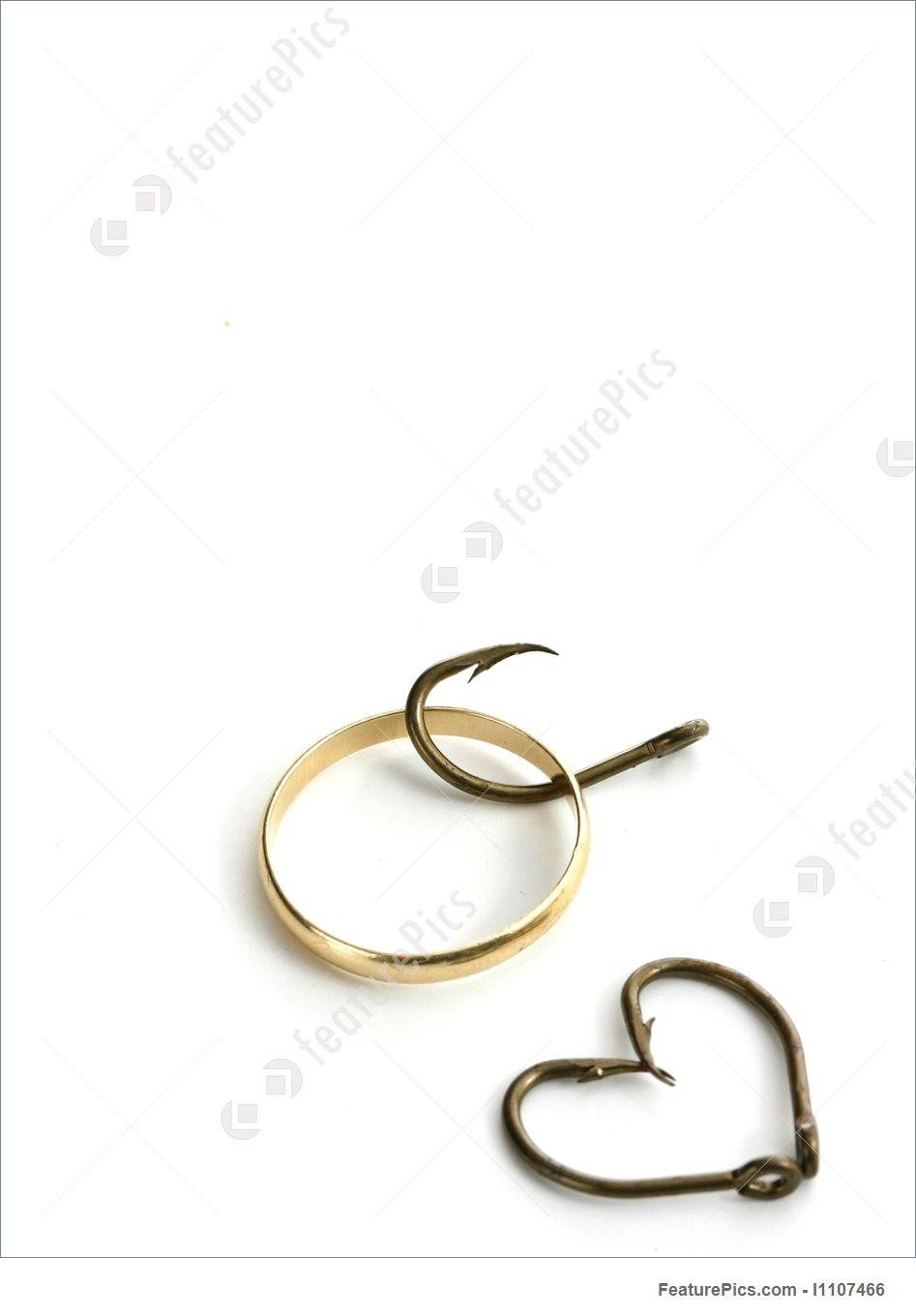 Fish Hooks Formed As A Heart And Wedding Ring Stock Photo I1107466 With Fish Hook Wedding Rings (View 6 of 15)