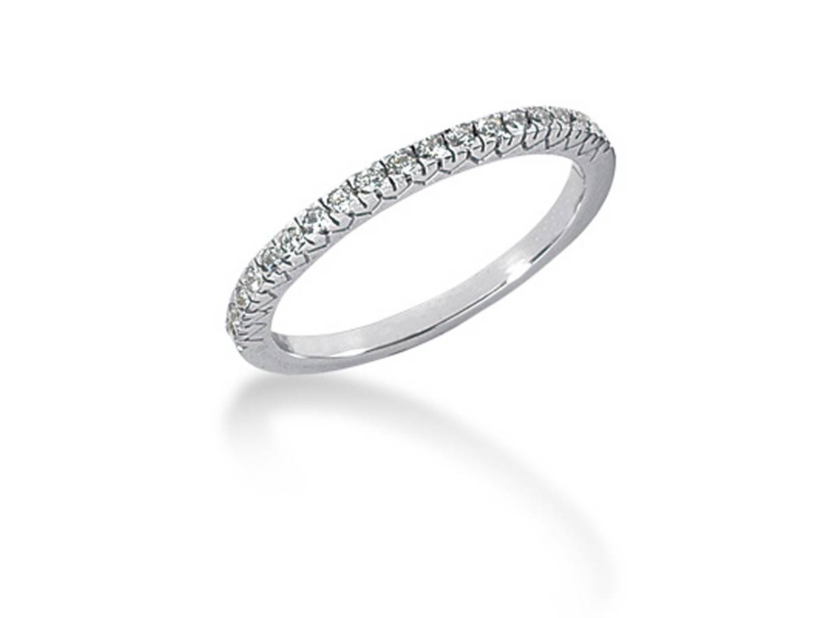 Fishtail V Pave Diamond Wedding Ring Band In 14K White Gold With Pave Diamond Wedding Rings (Gallery 7 of 15)