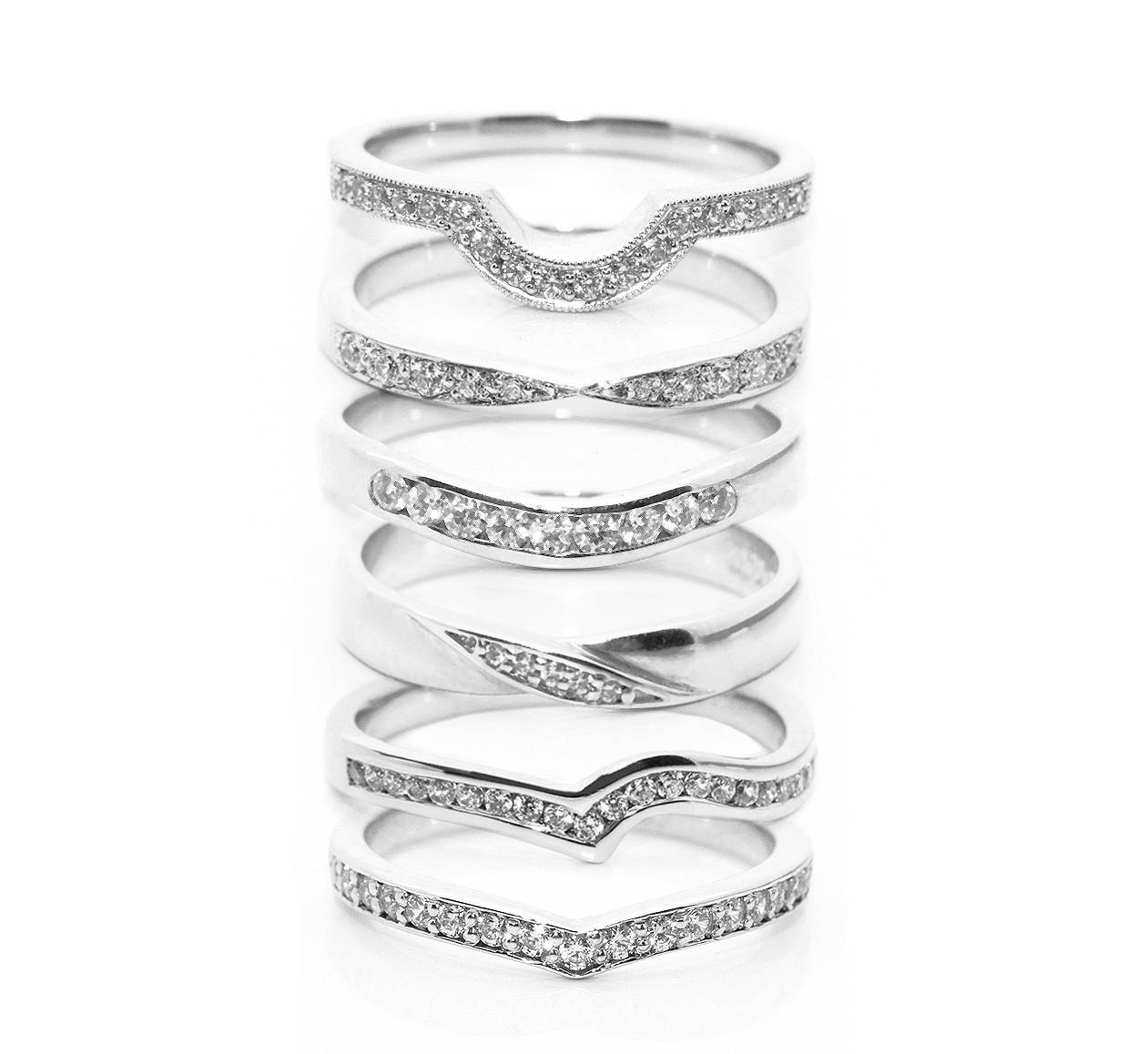 Fitting Inspiration For Shaped Wedding Rings Regarding Curved Wedding Bands To Fit Engagement Ring (View 3 of 15)