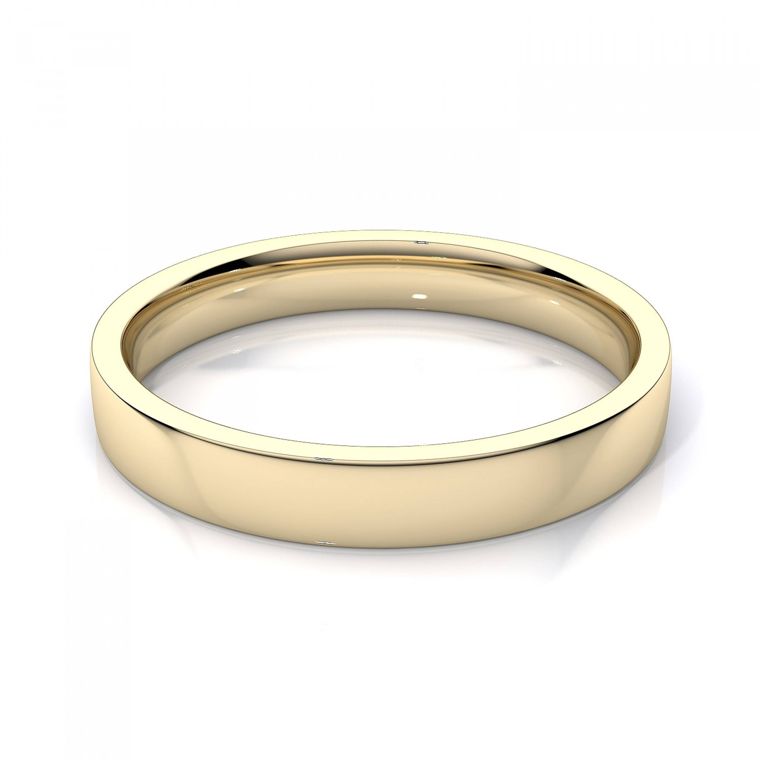 gold heavy for her of wedding dome best solid yellow plain bands mens band ring rings