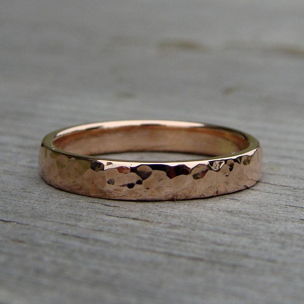 Forever Brilliant Moissanite | Mcfarland Designs Intended For Hammered Rose Gold Wedding Bands (View 7 of 15)