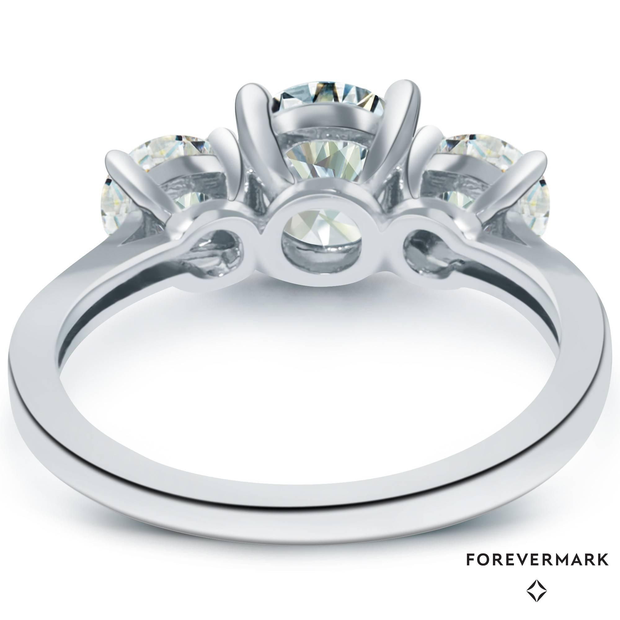 Forevermark Diamond Three Stone Engagement Ring In 18Kt White Gold Pertaining To Three Stone Wedding Rings (View 4 of 15)