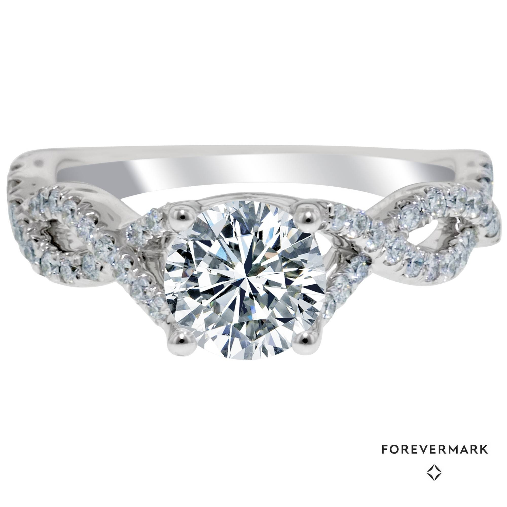 Forevermark Infinity Diamond Engagement Ring In 14Kt White Gold Regarding Infinity Diamond Wedding Rings (Gallery 14 of 15)