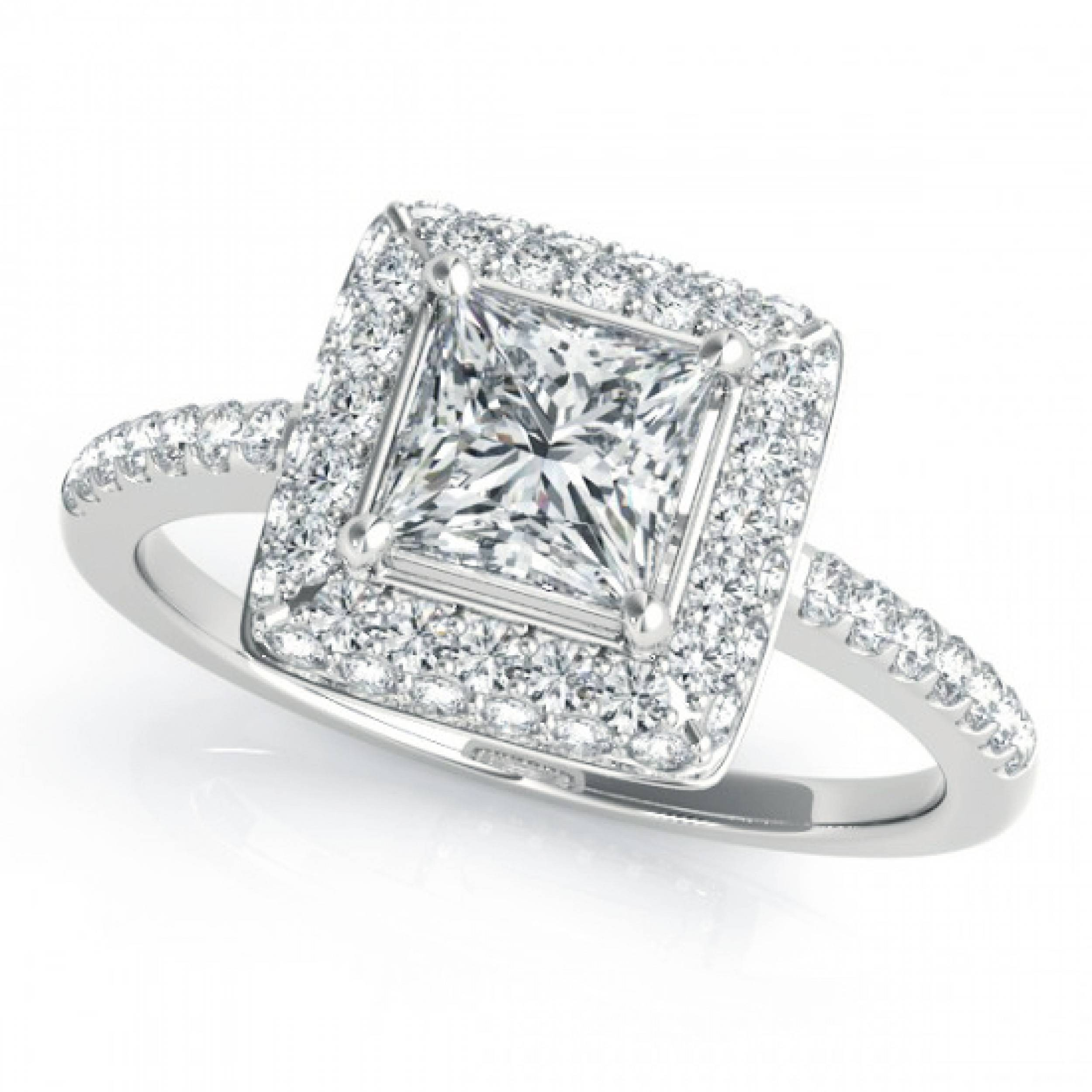 Free Diamond Rings. 2 Ct Princess Cut Diamond Engagement Ring: 2 In Princess Engagement Rings For Women (Gallery 14 of 15)