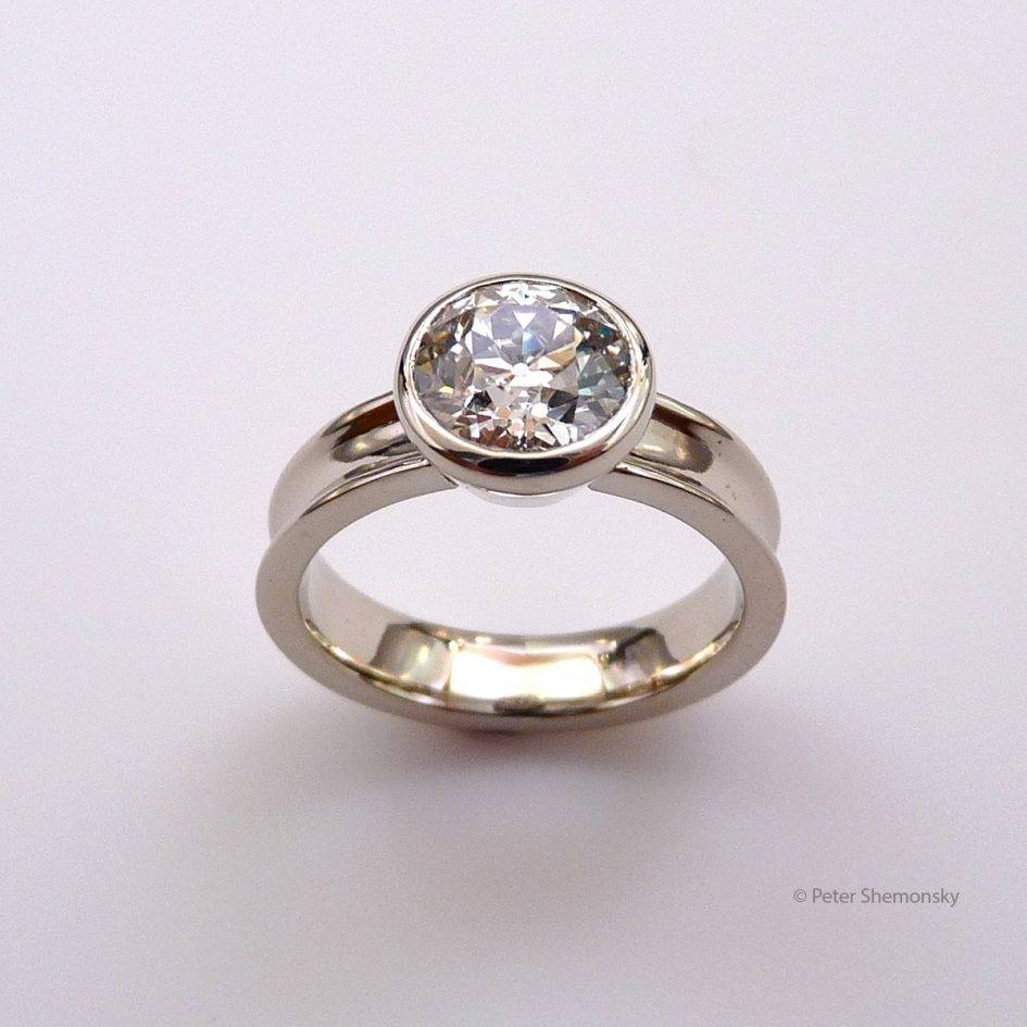 Free Diamond Rings: Flat Diamond Engagement Ring Flat Engagement Inside Flat Engagement Rings (Gallery 2 of 15)