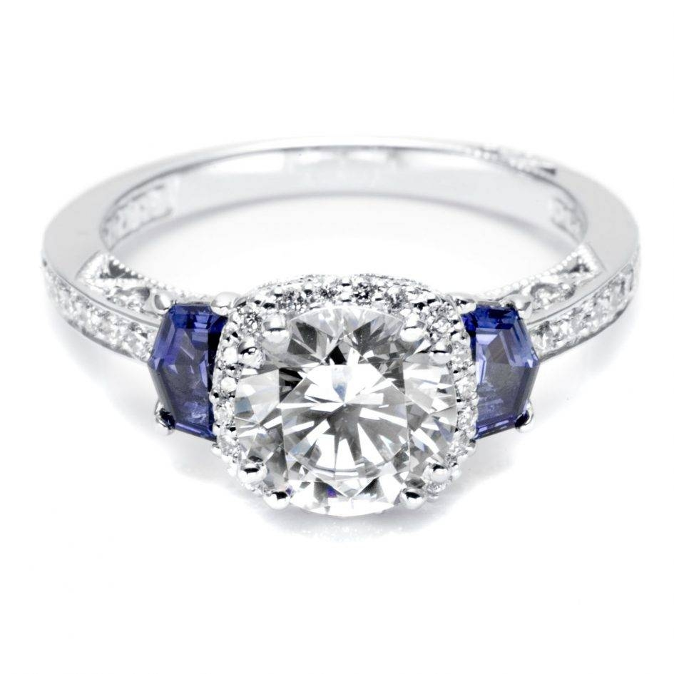 diamond octagonal deco art platinum rings engagement and sapphire ring product octagon