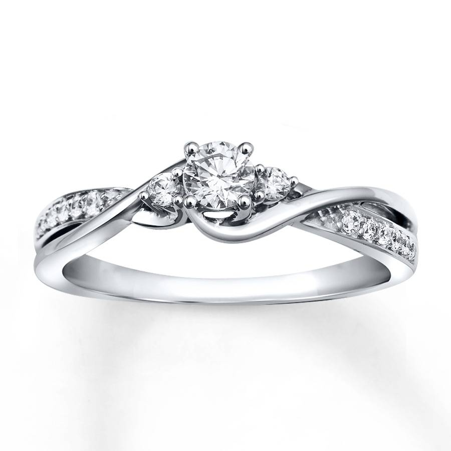 Free Diamond Rings. White Gold Wedding Rings With Diamonds: White Pertaining To White Gold Engagement Rings (Gallery 9 of 15)