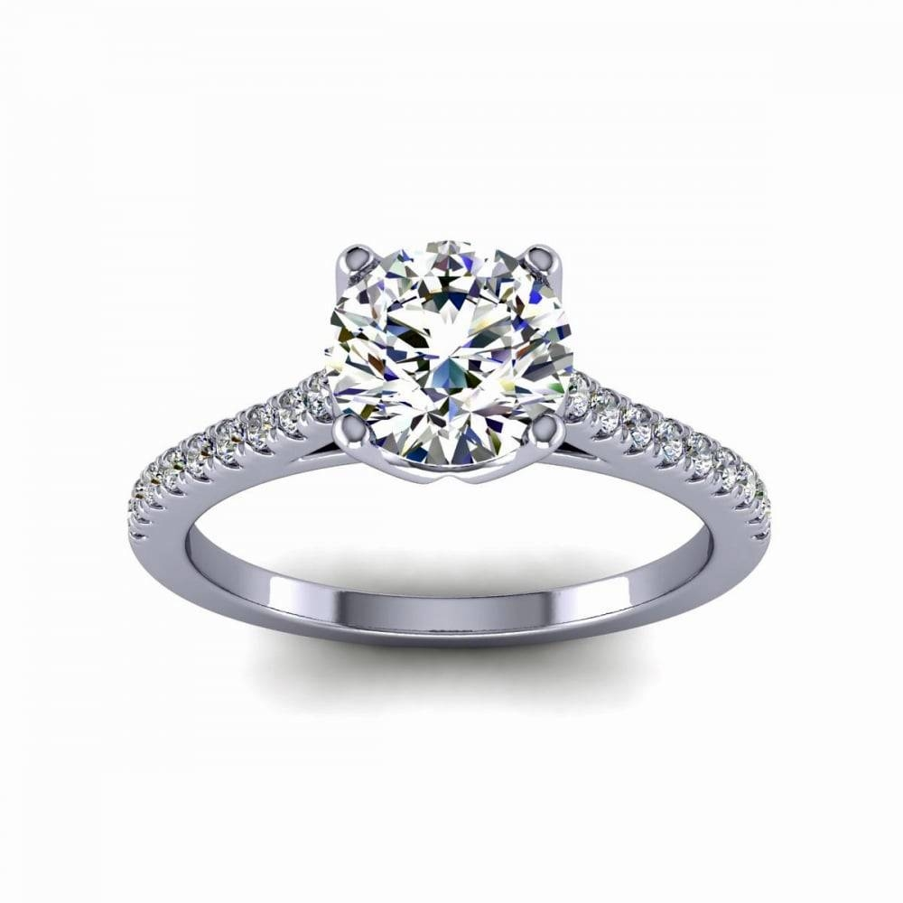Frost Of London Platinum 0.90Ct G Vs2 Round Brilliant Engagement Throughout Scottish Engagement Rings (Gallery 12 of 15)