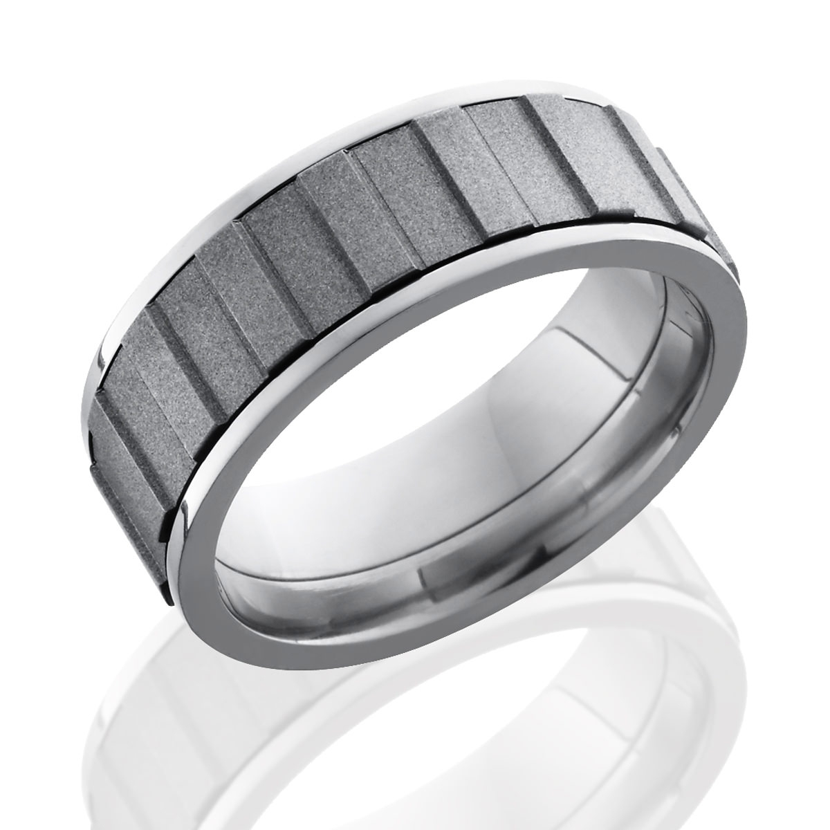 Gear Spinner Titanium Ring – Lashbrook Titanium Ring For Men's Spinner Wedding Bands (View 6 of 15)