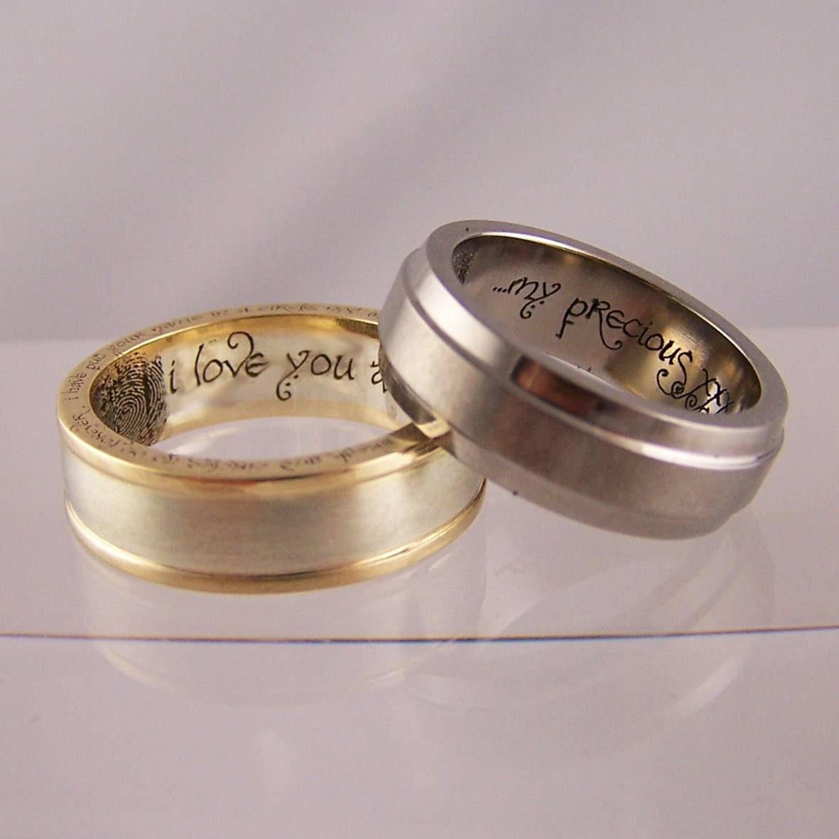 two gamer bearer leaves ring for logo box geek tone albany or rings nerds engagement geeky wedding batman gallery of