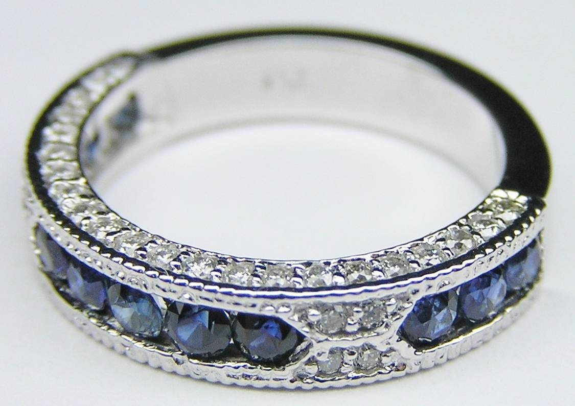 Gem Stones – Wedding Bands From Mdc Diamonds In Vintage Sapphire Wedding Bands (View 5 of 15)