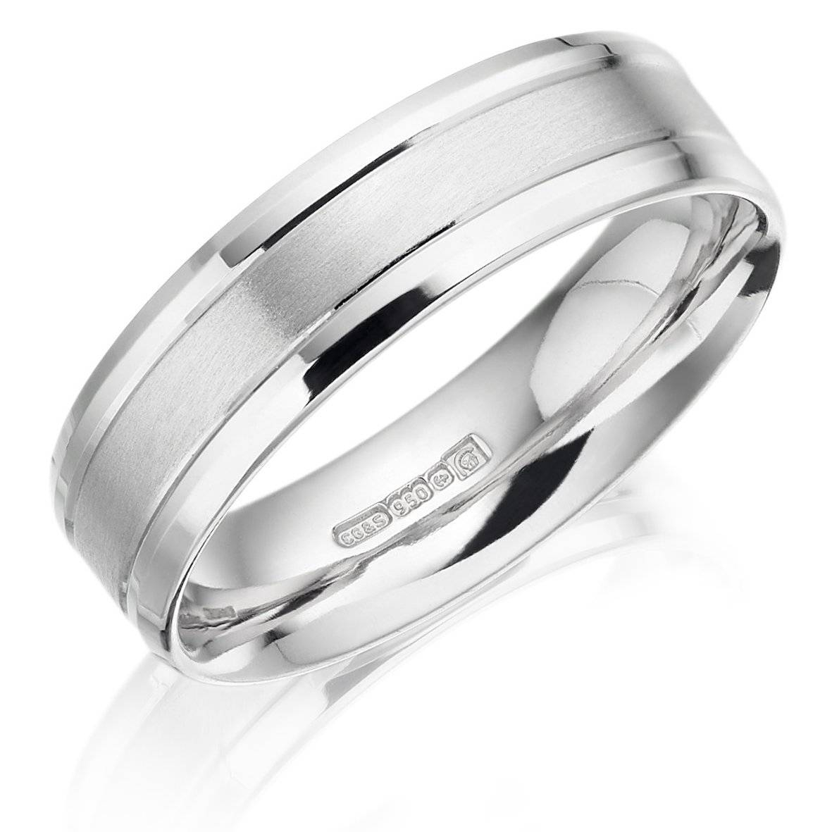 Gents Palladium Patterned 6Mm Wedding Ring – Winsor Bishop Jewellers Regarding Palladium Wedding Rings (View 3 of 15)