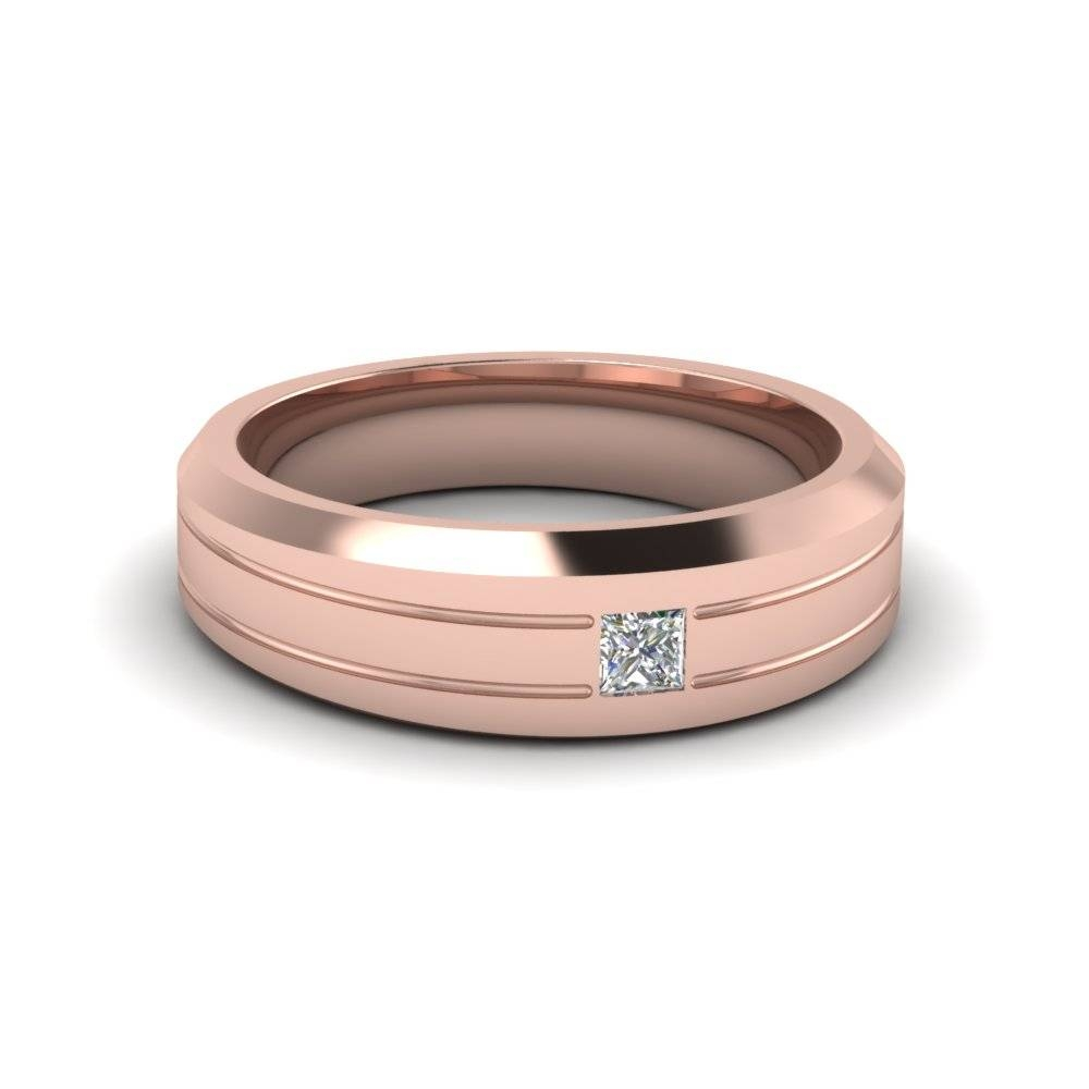 Get Classic Rose Gold Wedding Bands | Fascinating Diamonds For Rose Gold Wedding Bands For Men (View 6 of 15)