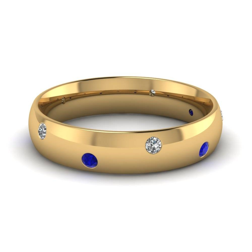 Get Mesmerizedeternal Blue Sapphire Wedding Rings| Fascinating Intended For Men's Wedding Bands With Blue Sapphire (Gallery 12 of 15)