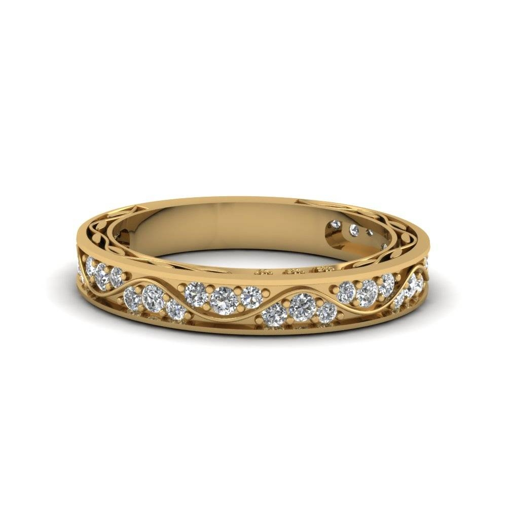 Glance Through Our 18K Yellow Gold Wedding Rings For Women For 18K Gold Wedding Rings (View 7 of 15)