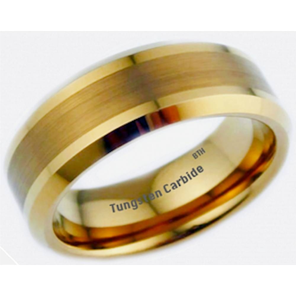 Gold Celtic Dragon Tungsten Carbide Wedding Engagement Band Mens Ring Inside Classic Gold Wedding Rings (View 9 of 15)