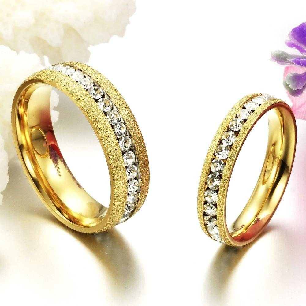 Gold Engagement Rings Gold Engagement Rings For Couple In India Pertaining To Engagement Rings For Couples In Gold (View 8 of 15)