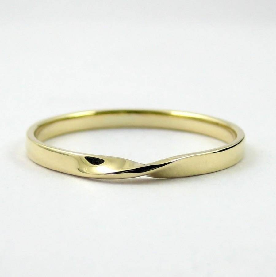 Gold Mobius Ring, Infinity Ring, Hallmarked Solid Gold Ring Regarding Infinity Symbol Wedding Rings (View 5 of 15)