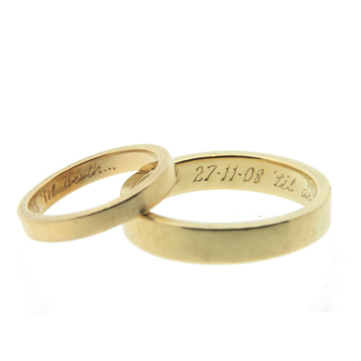 Gold Ring Engraving With Regard To Engravings On Wedding Rings (View 3 of 15)