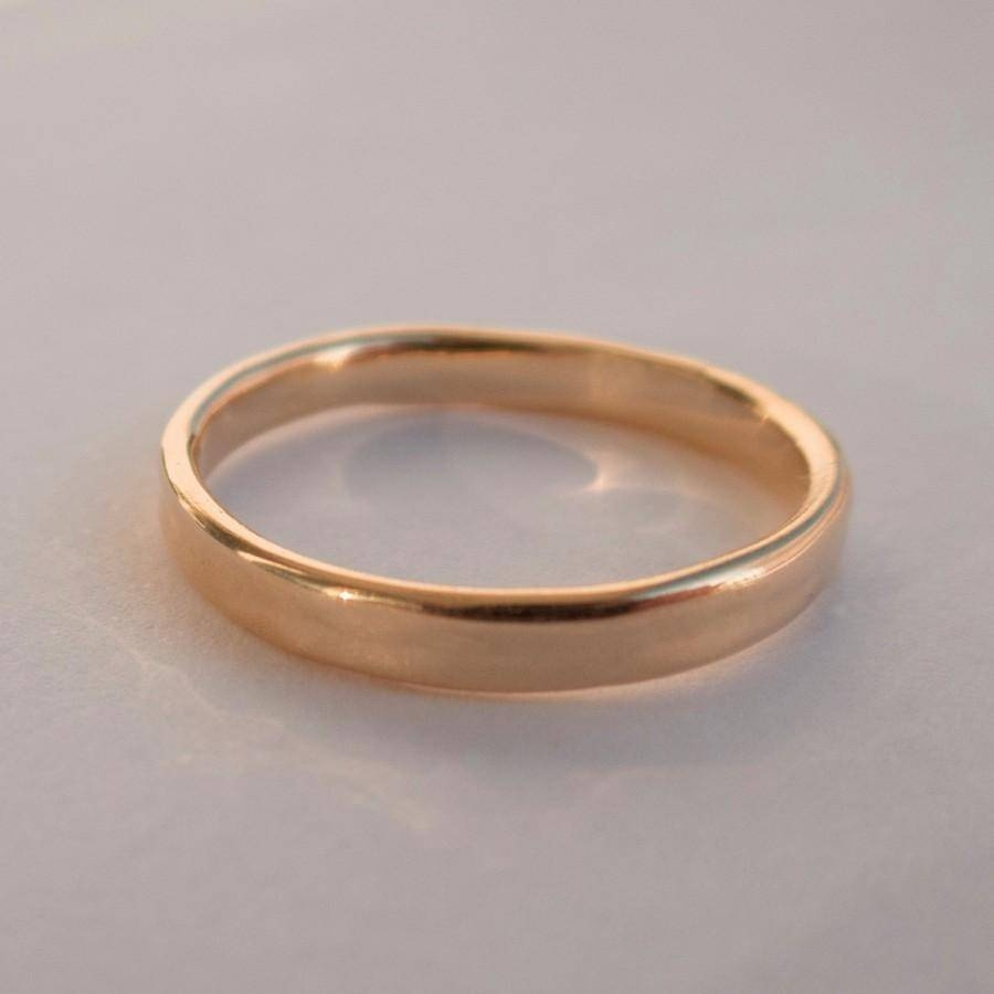 Gold Simple Wedding Band (View 6 of 15)