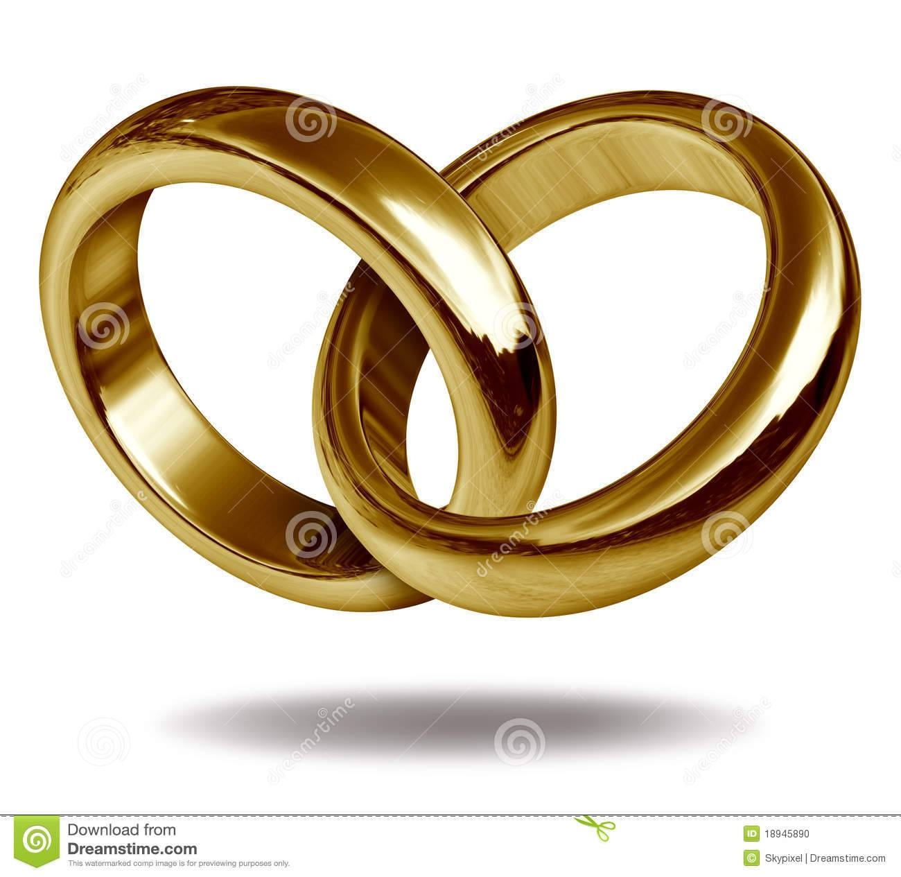 Gold Wedding Ring Clipart Images – Wedding Rings Design Ideas In Interlocking Wedding Bands (View 4 of 15)