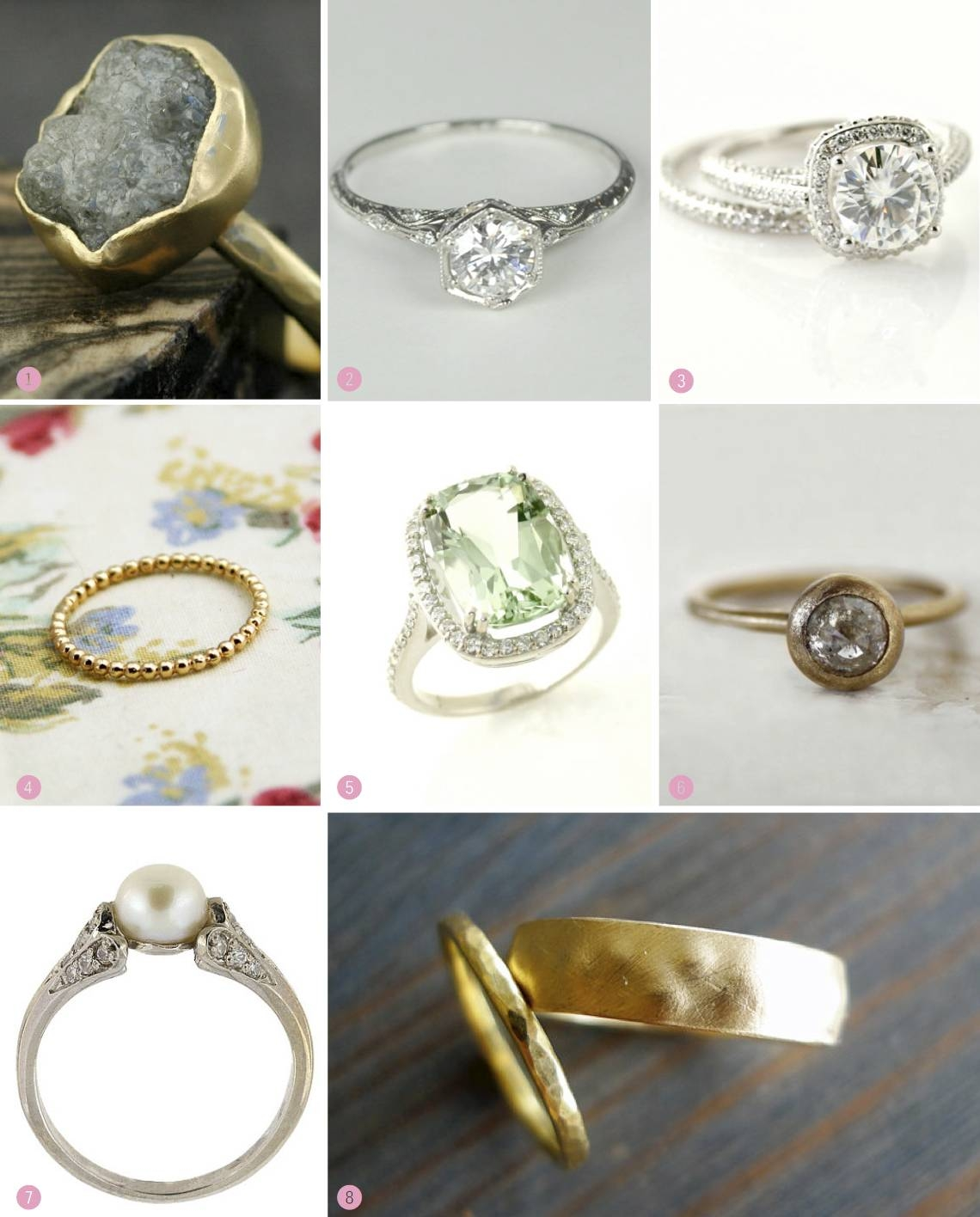Gorgeous And Unique Etsy Engagement Rings Throughout Earthy Wedding Rings (View 5 of 15)
