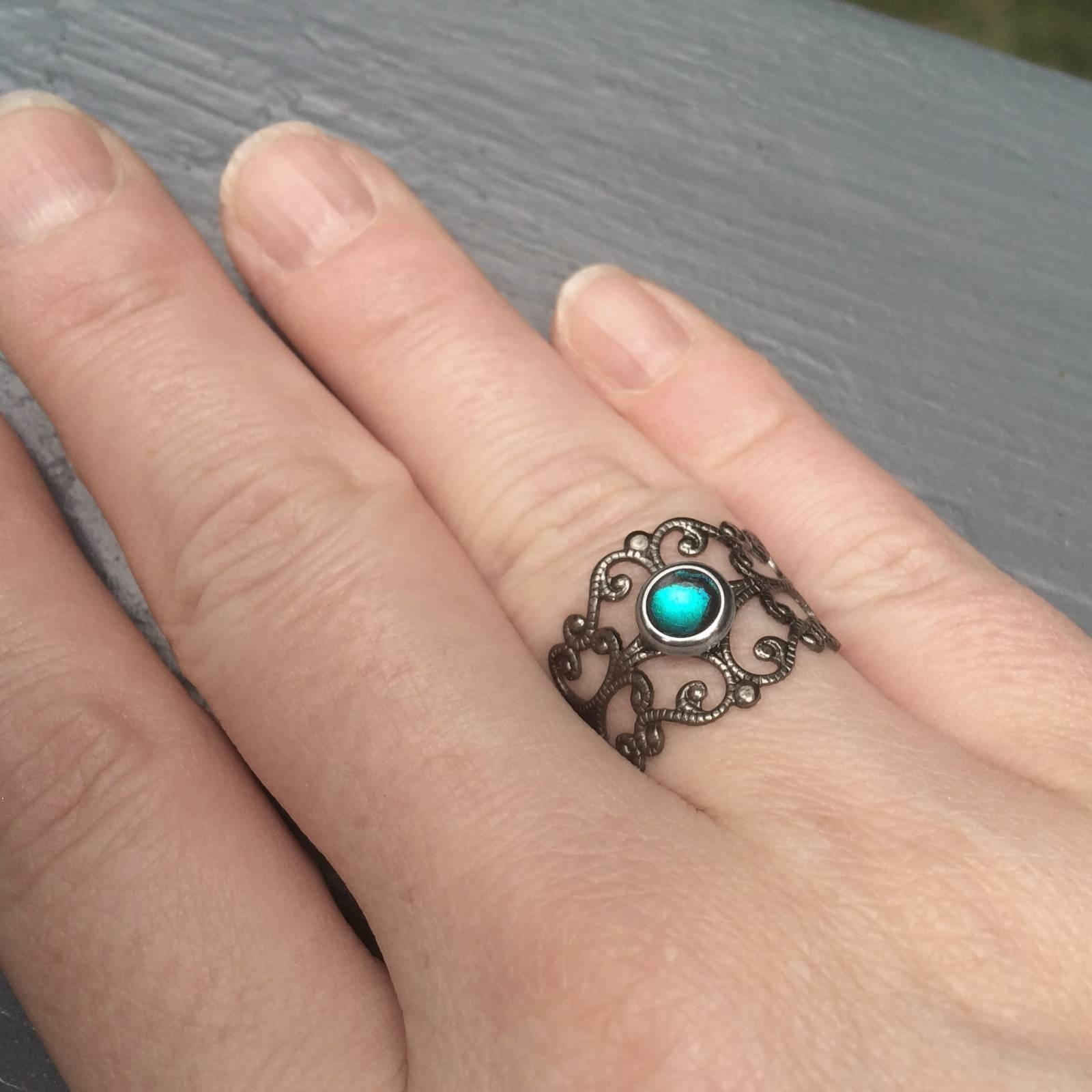 Goth Ring Antique Silver Filgree Cutout | Loralyn Designs For Medieval Engagement Rings (View 7 of 15)