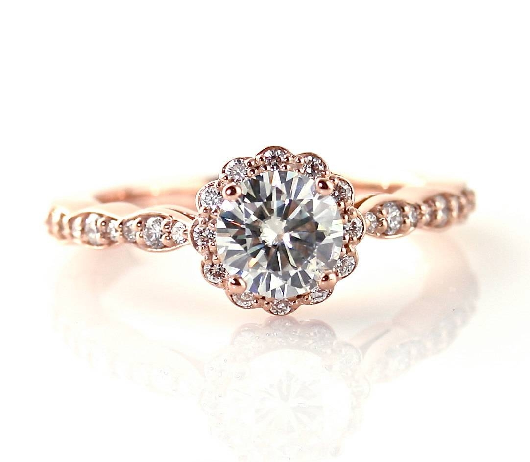 Graceful Vintage Engagement Rings Tulsa Ok Tags : Engagement Rings With Regard To Gold Rose Wedding Rings (View 9 of 15)