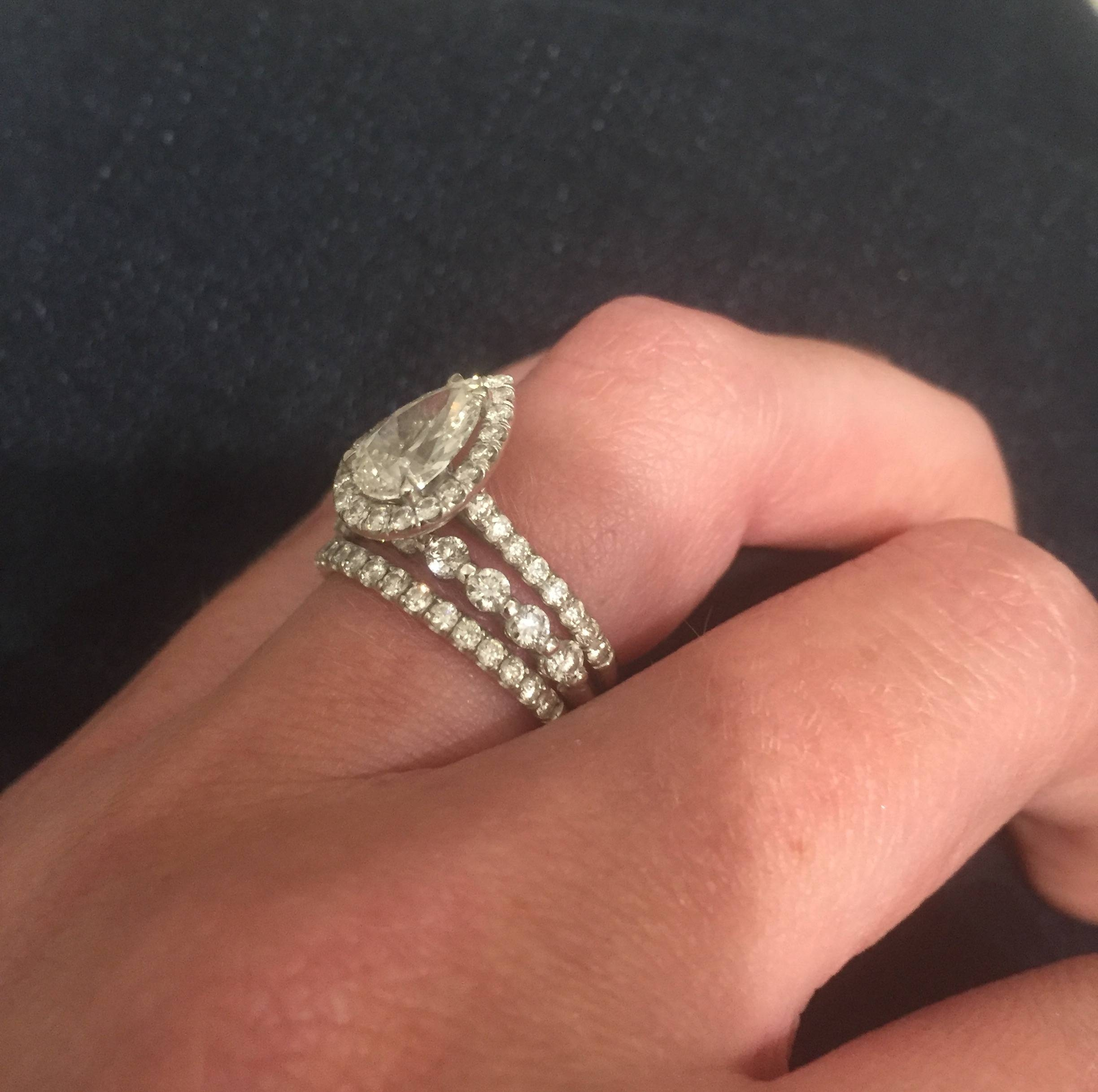 Halo Emerald Cut Pic Request! (James Allen Or Adiamor Regarding Adiamor Engagement Rings (Gallery 13 of 15)