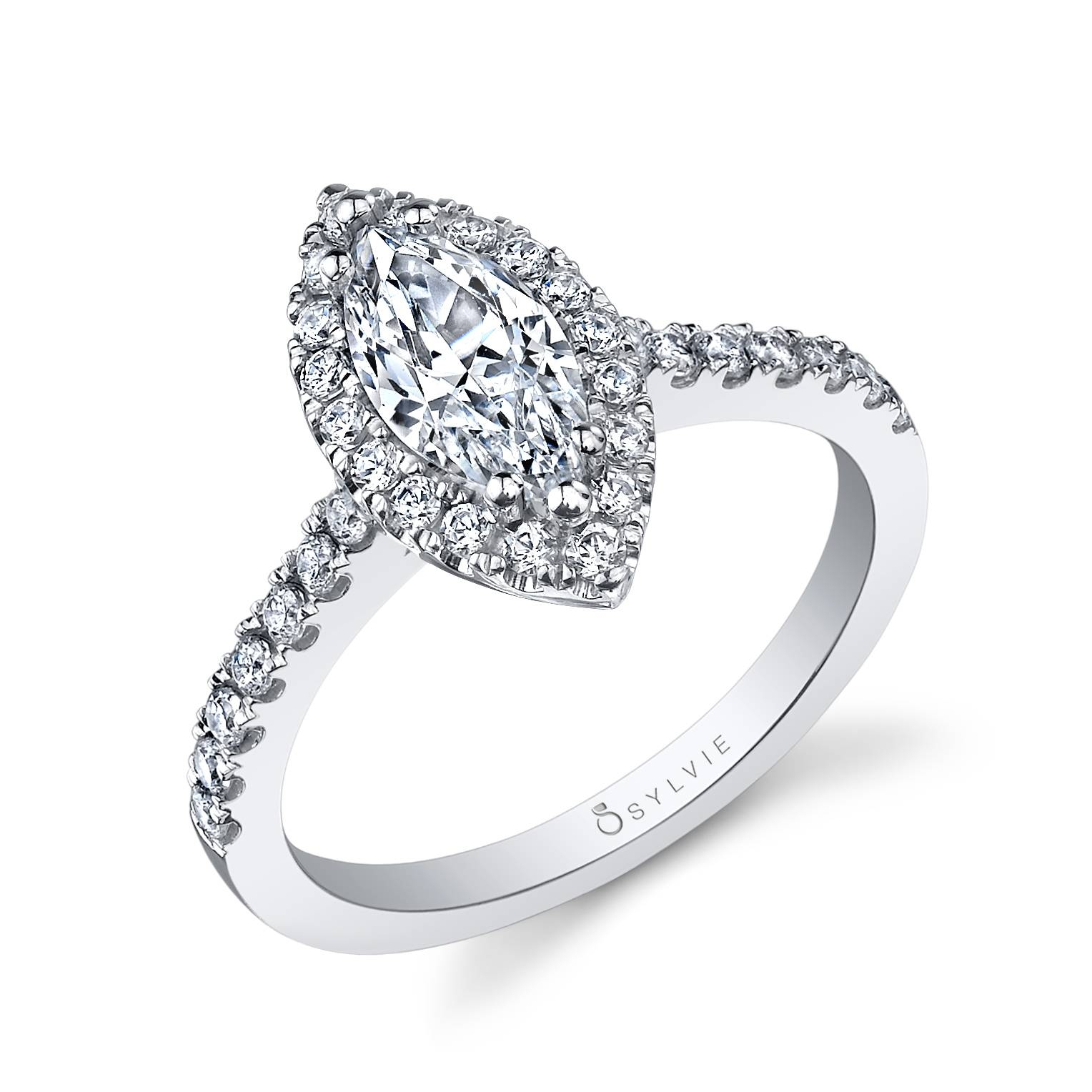 Halo Marquise Cut Engagement Ringsylvie – Alexis For Tampa Engagement Rings (View 6 of 15)