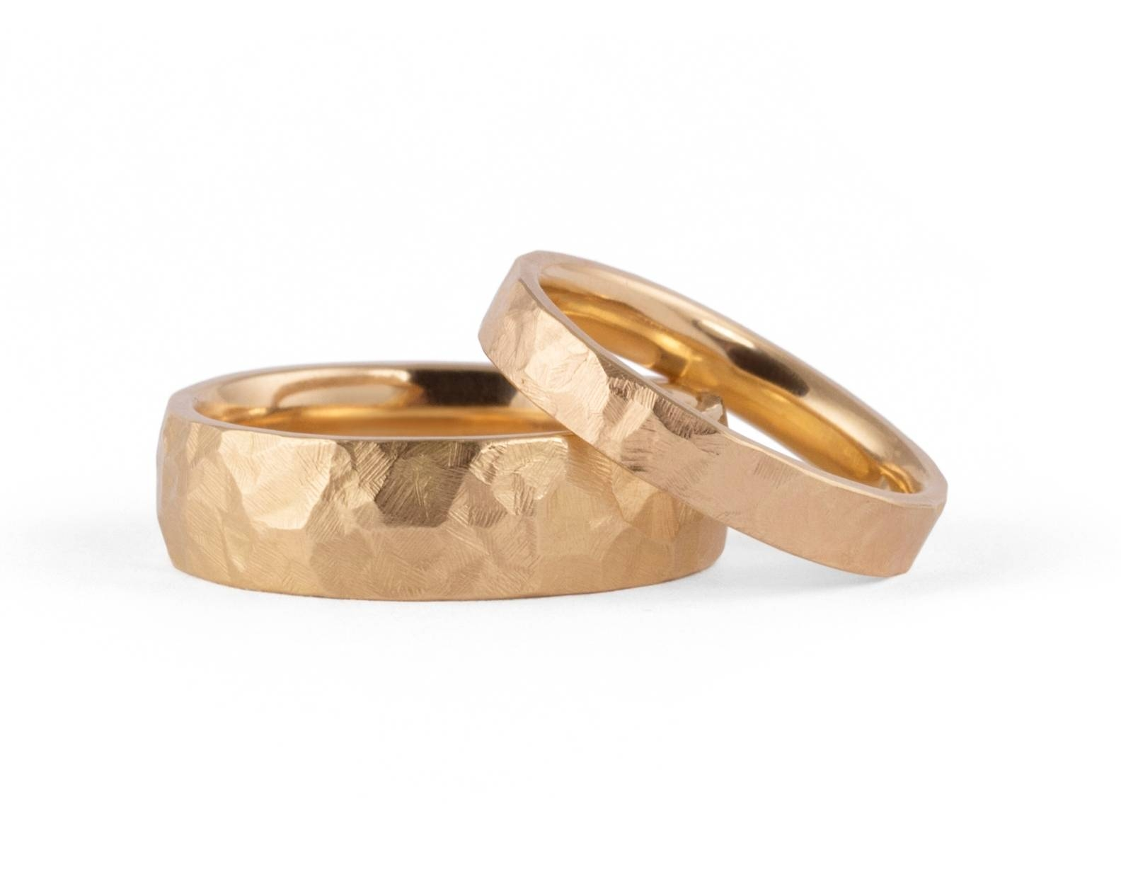 Hammered Wedding Bands – Mccaul Goldsmiths Intended For Hammered Rose Gold Wedding Bands (View 10 of 15)