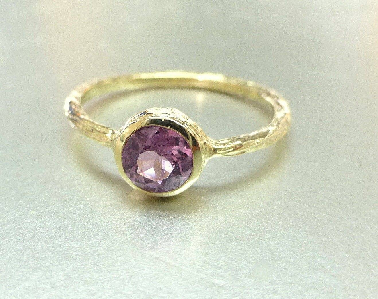 Hand Crafted Pink Spinel Ring (View 8 of 15)