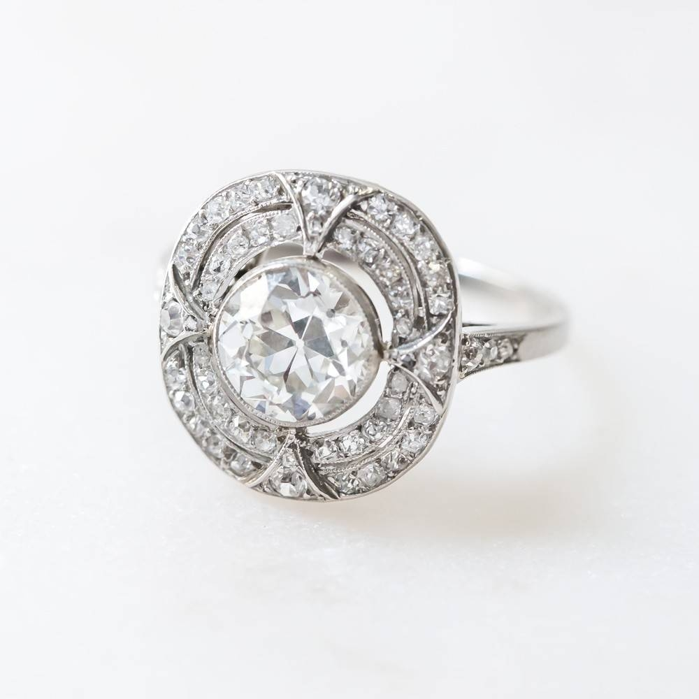 Handcrafted Edwardian Engagement Ring With Impeccable Detail Within Handcrafted Engagement Rings (View 5 of 15)