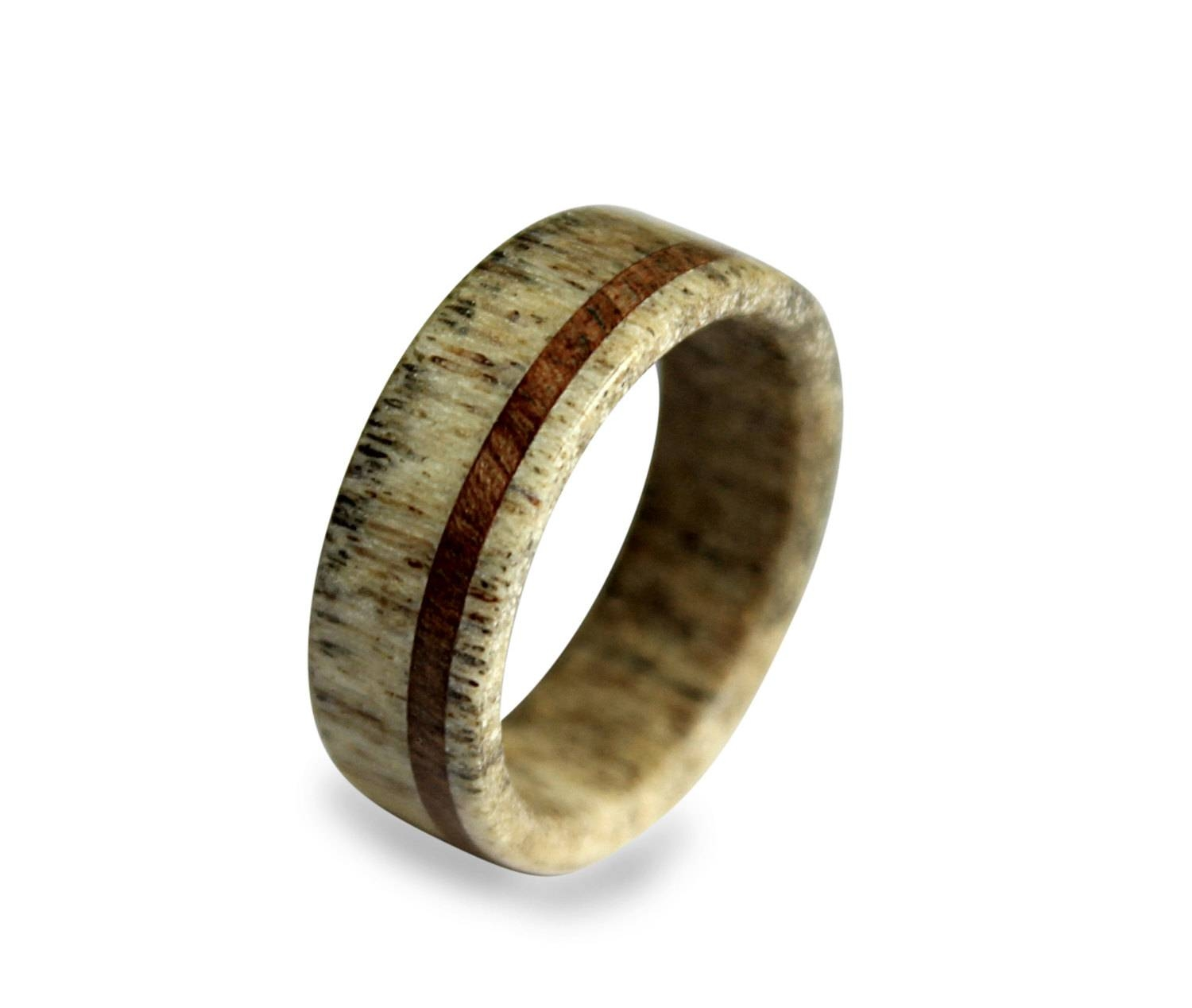 Handmade Deer Antler Ring Antler Ring Wooden Ring Antler Intended For Antler Engagement Rings (View 9 of 15)