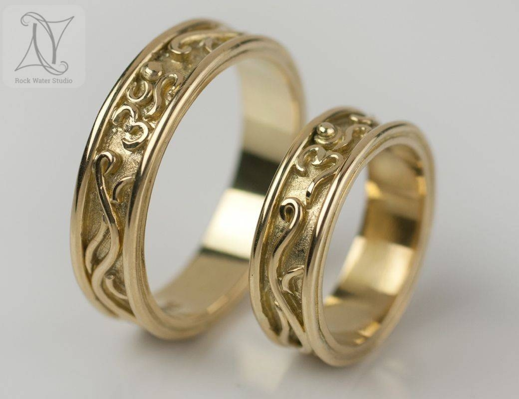 Handmade Gold Wedding Rings And Beautiful Engagement Rings Regarding Engagement Rings Pair (Gallery 11 of 15)