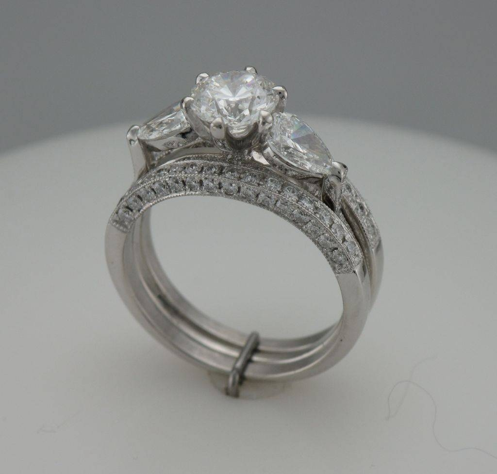 Handmade Platinum Engagement Rings (With Pictures) Pertaining To Wedding And Engagement Rings That Fit Together (View 4 of 15)
