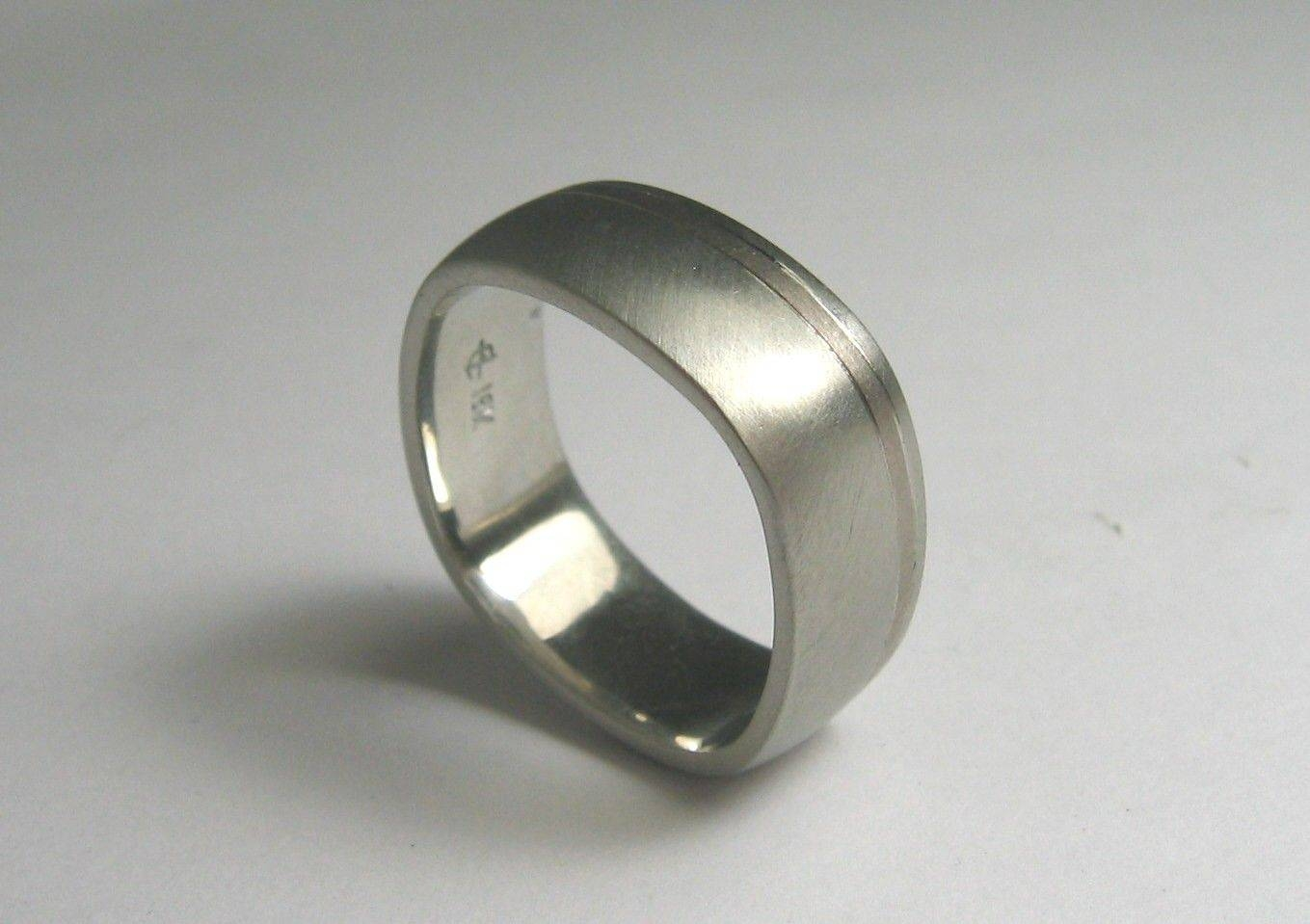 Handmade Square Shaped Wedding Band For Menwearable Art With Regard To Custom Wedding Bands For Him (Gallery 10 of 15)