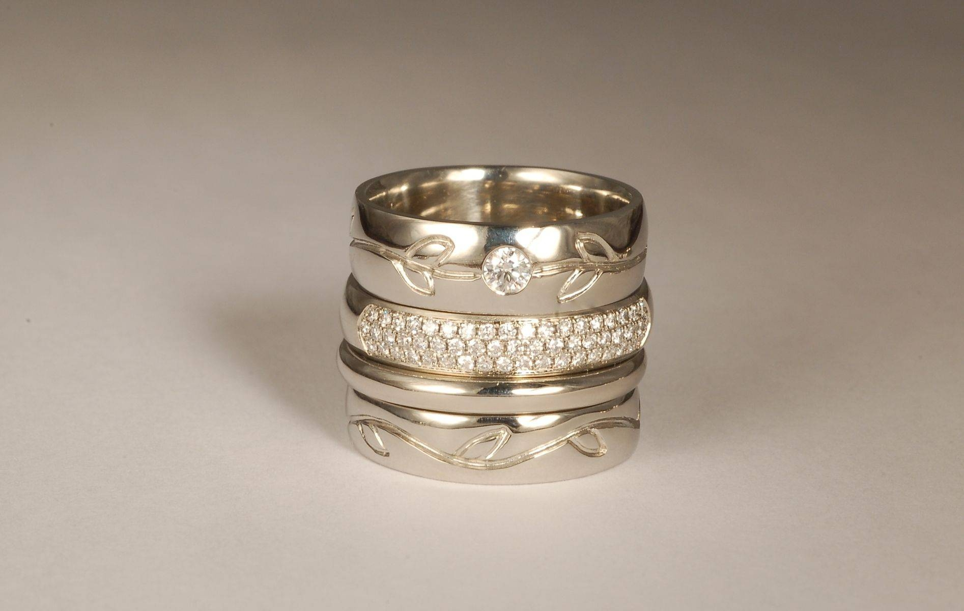 Handmade Women's Wedding And Engagement Ringsandrea Mueller Pertaining To Custom Designed Wedding Rings (View 1 of 15)