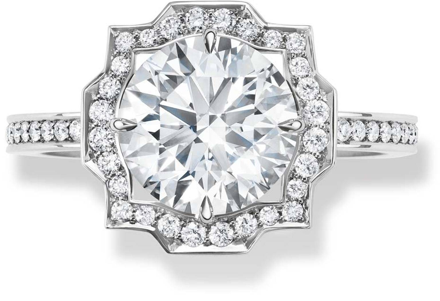 Harry Winston Belle Vintage Style Engagement Ring With A In Harry Winston Belle Engagement Rings (View 9 of 15)