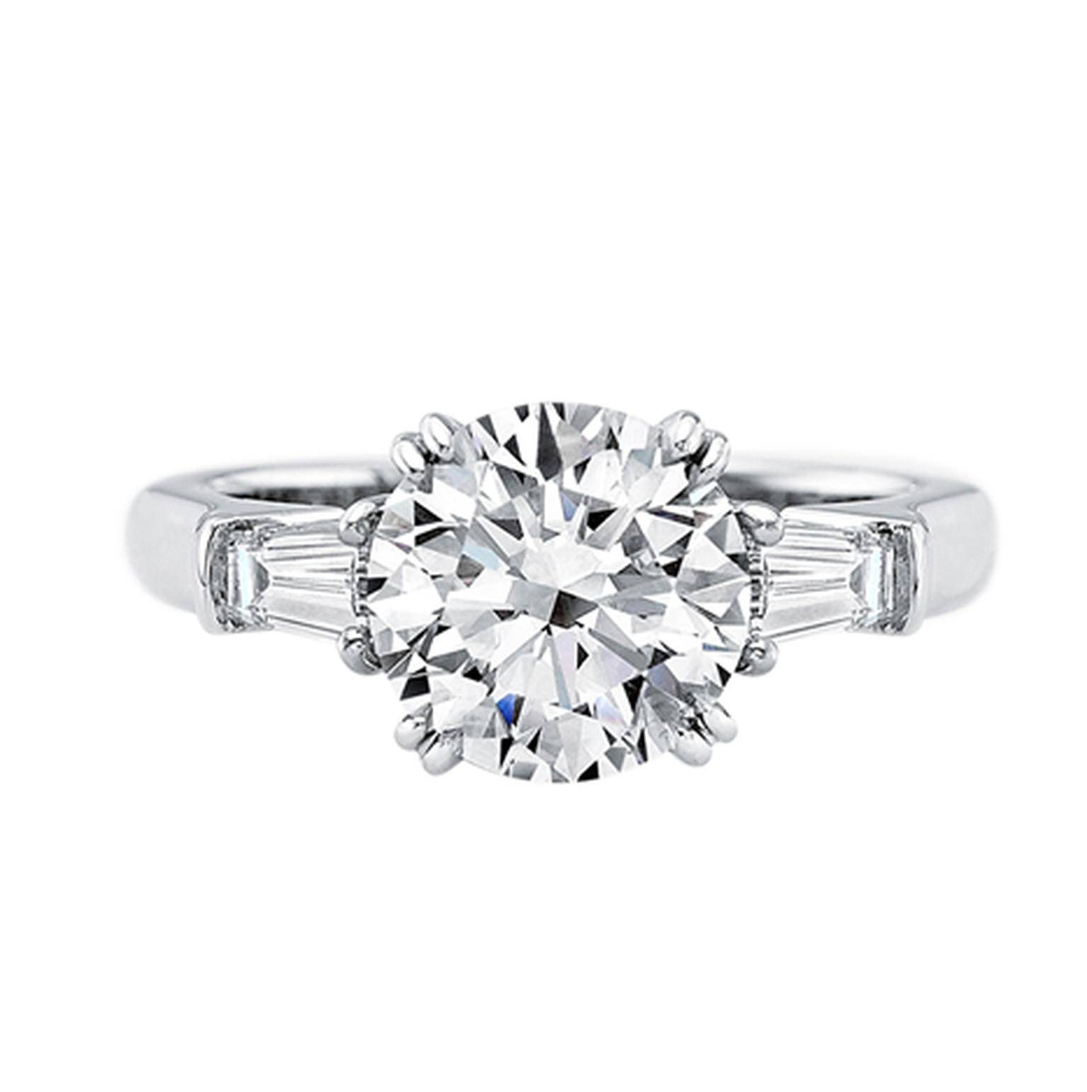 Harry Winston Classic Winston Platinum Diamond Engagement Intended For Harry Winston Engagement Rings (Gallery 8 of 15)