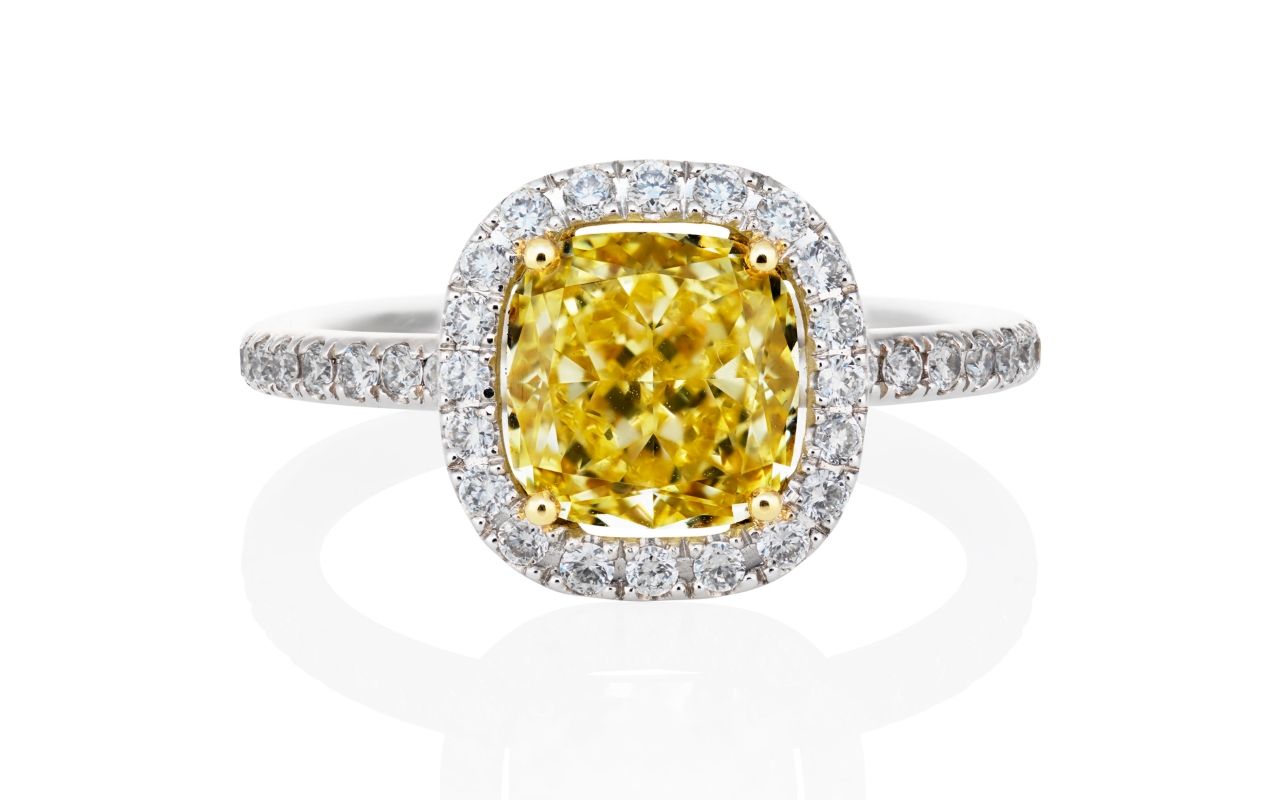 Harry Winston Engagement Ring Yellow Diamond – Harry Winston For Harry Winston Micropave Engagement Rings (View 9 of 15)