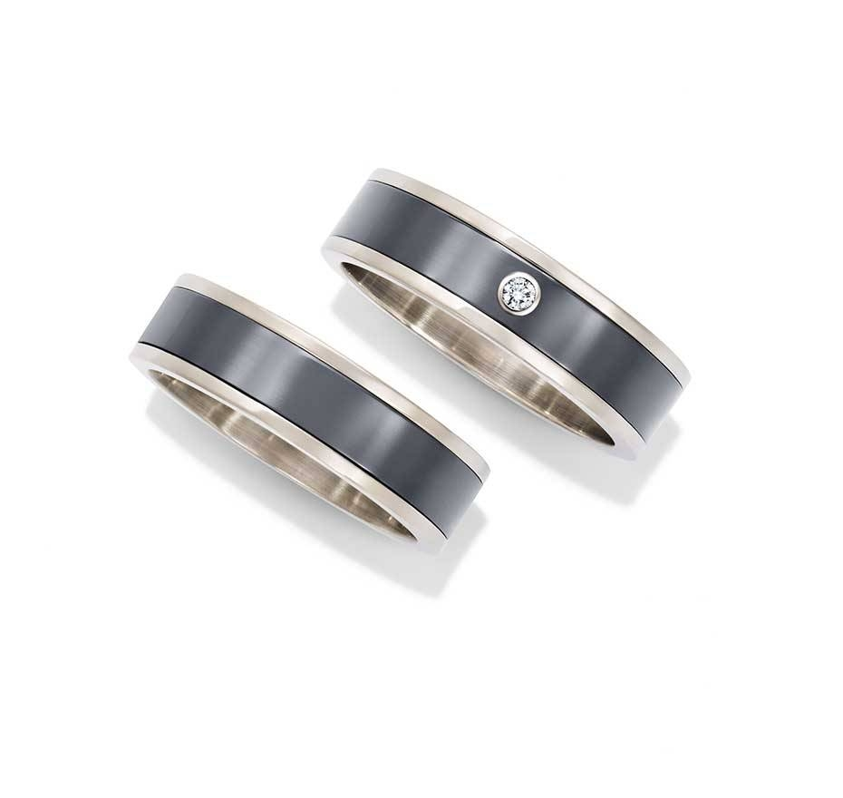 Harry Winston Zalium Men's Wedding Bands In White Gold And Regarding Harry Winston Men Wedding Bands (View 6 of 15)