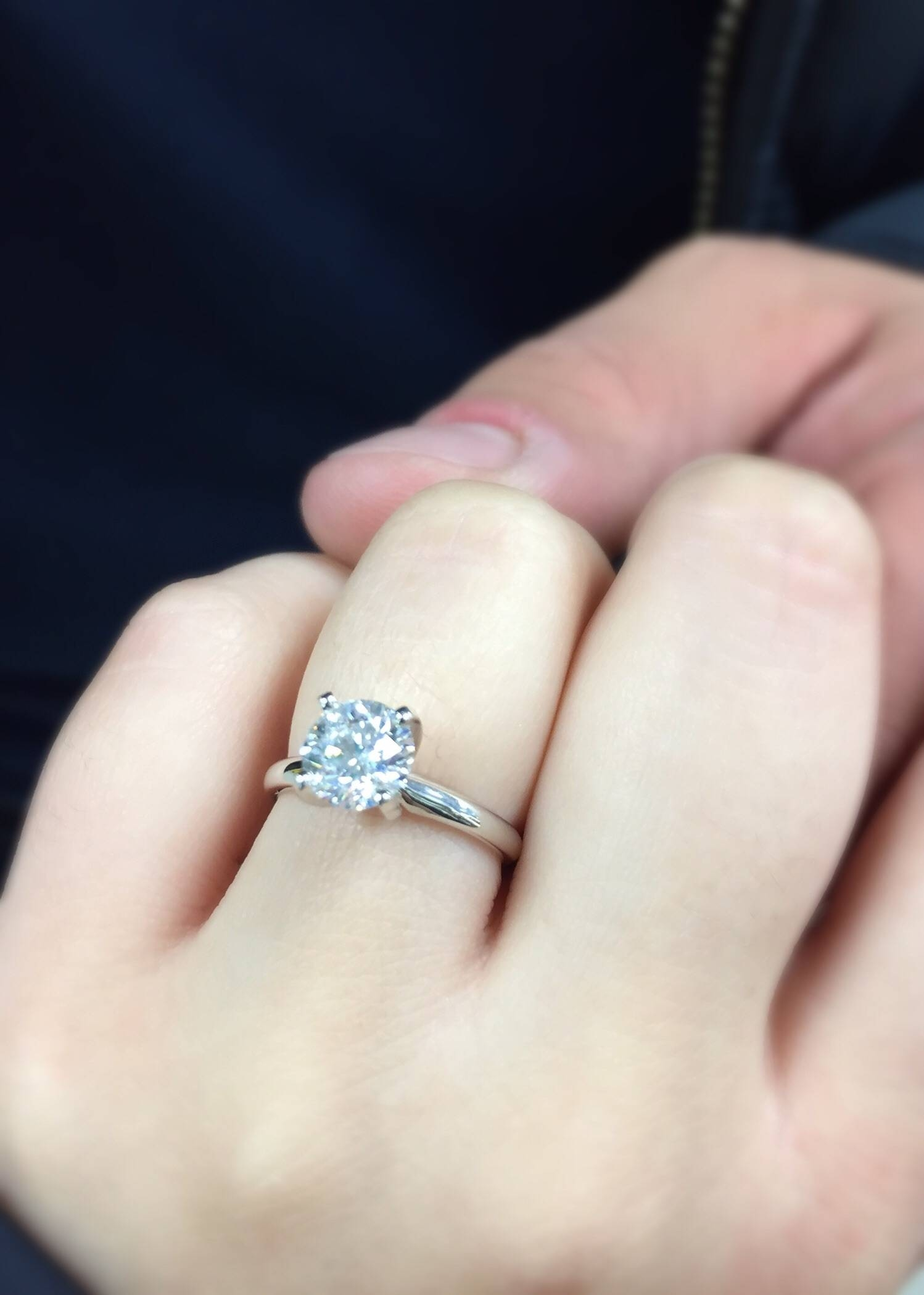 He Went To Jared!! I'm Engaged!! – Weddingbee For Jared Solitaire Engagement Rings (View 2 of 15)