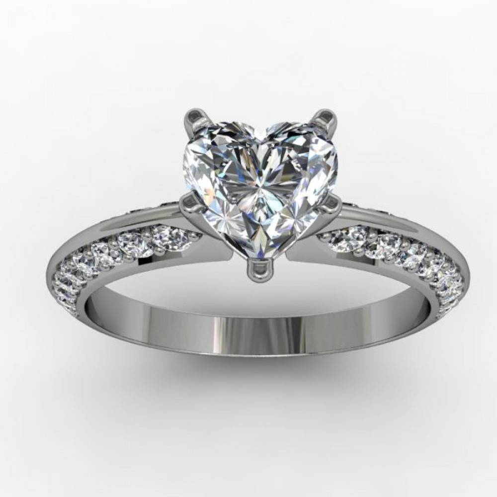 Heart Custom Engagement Ring Setting (Without Center) Regarding Custom Engagement Ring Settings (Gallery 3 of 15)